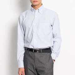 THE SHOP TK/THE SHOP TK 男士竖条纹纽扣领长袖衬衫 61682508图片