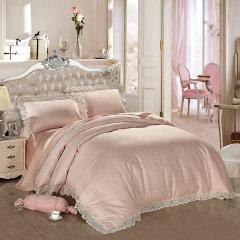 YOLANNA/意•欧恋纳 宽幅蕾丝全棉床上用品床单四件套YT207-4图片