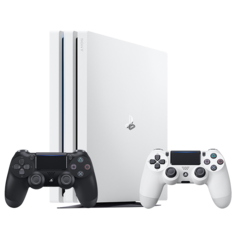 SONY/索尼 PS4 Pro slim 国行游戏主机 PlayStation4Pro电脑娱乐游戏机 有(500G 1TB 2TB 单 双手柄 黑 白色 )多项可选择图片
