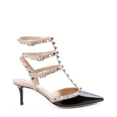 【18春夏】Valentino/华伦天奴 ROCKSTUD 牛漆皮铆钉尖头高跟鞋PW2S0375VNW图片