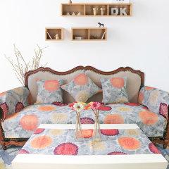 瑞典Ekelund 美式田园防滑沙发垫 纯棉表面实木布艺沙发坐垫定制图片
