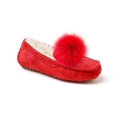 Ozwear ugg 毛球配饰防水雪地靴豆豆鞋 OB291P图片
