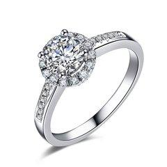 ZOCAI/佐卡伊 摩天轮 18k金显钻款钻戒女求婚结婚钻石戒指婚戒 定制图片