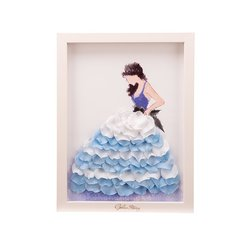GeleiStory/GeleiStory她走在美的光彩中永生花艺术相框 伴手礼 送闺蜜 生日礼物  年货节 店铺特惠图片