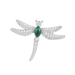 APM Monaco/APM Monaco S925银红色/绿色/蓝色晶钻蜻蜓胸针  时尚女配饰 单只 AO34XKR AO34XKG AO34XKB图片