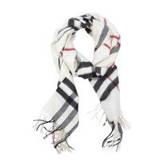 【18年秋冬】BURBERRY/博柏利  男士女士中性款多色经典格纹羊绒流苏装饰围巾/披肩#CA08图片