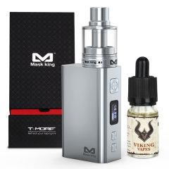 Mask king(MK)T-MORE电子烟套装 50W温控迷你戒烟不锈钢盒子大烟雾送烟油图片