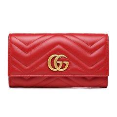 GUCCI/古驰 GG Marmont系列女士牛皮革长钱包443436DRW1T图片