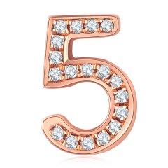 Daisy Fellowes/黛西法罗 美搭系列配饰 19年春夏新品18K金钻石镶嵌数字 数字0到9配珠 手串 手链 串珠 吊坠图片