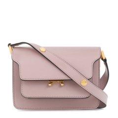 Marni/玛尼 杨幂同款 Trunk系列 女士时尚风琴包单肩斜挎包金棕色粉色图片