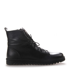 Neiliansheng/内联升 女士靴子牛皮系带休闲靴 4733C图片