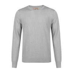 BURBERRY/博柏利LONDON系列混合材质袖子贴布设计套头男士针织衫/毛衣 藏青色1 XL图片