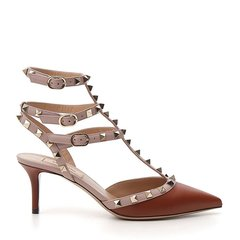 Valentino/华伦天奴 19年春夏 Rockstud系列 尖头 高跟鞋 铆钉 绑带 红色 女士 RW2S0375 VOD BY5图片