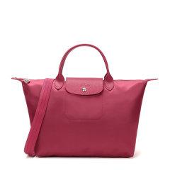 Longchamp/珑骧 Le Pliage Néo系列 女士枚红色尼龙配皮中号短柄手提包单肩包斜挎包饺子包女包 1515578232图片