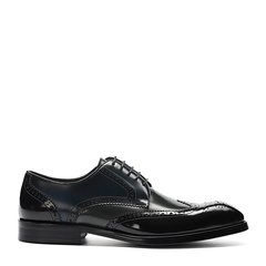 Landax/Landax 新款  男士方头鞋子 布洛克雕花 系带 商务正装鞋图片