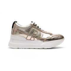 RucoLine/RucoLine 19春夏新品 金属感牛皮系带女士休闲运动鞋图片