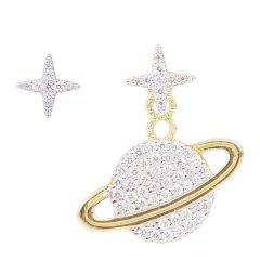 【林志玲同款】APM Monaco/APM Monaco 20新品 女士银色925银锆石耳环 AE10559图片