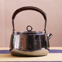 Zhuyintang/竹银堂 静良 铁柄 纯银 煮水壶 经典壶 形 南红 摘 容量1000ml图片