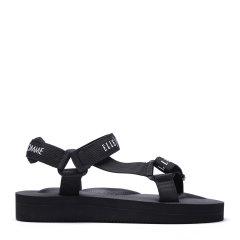 ELLE HOMME/ELLE HOMME 男士皮质拼接凉鞋-男士凉鞋图片