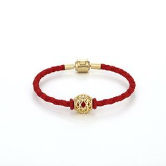 【Designer Jewelry】GONG XI LI/宫喜礼 红绳手链925银三倍加厚包18K金图片