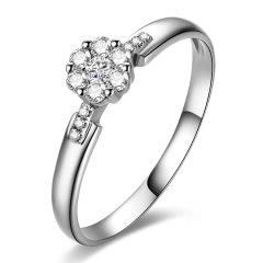 DEMONE/黛慕妮 18K金玫瑰金钻石戒指图片