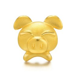 Magifas/Magifas 十二生肖之富贵猪 3D硬金999足金 狗狗本命年手工编织转运珠手绳 四选一图片
