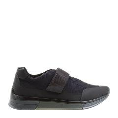 PRADA/普拉达 复合材质 网面粘扣 系带 男士深蓝色休闲运动鞋图片