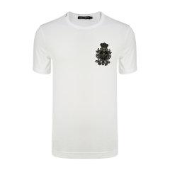 Dolce&Gabbana/杜嘉班纳男士短袖T恤-男士时尚短T恤100棉装饰物:55玻璃25黄铜10聚酯10桑图片