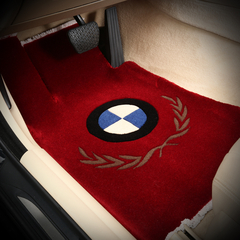 NATU 汽车新款新西兰进口带车标羊毛脚垫 汽车低边地毯式防滑耐磨绒面脚垫  地毯式脚垫图片