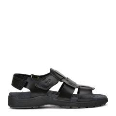 ROBERTA DICAMERINO/诺贝达 牛皮男士休闲软垫凉鞋图片