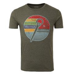 MARMOT/土拨鼠春夏新款户外男轻薄透气棉质圆领短袖T恤F44640图片