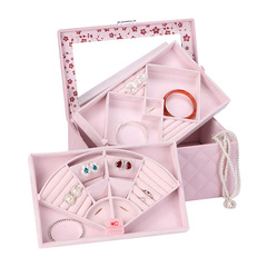 OC/开合首饰盒 欧式公主收纳盒 创意礼品 带锁珠宝饰品盒红色图片