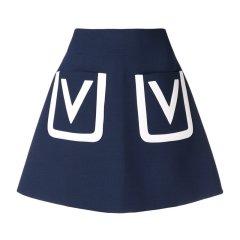 Valentino/华伦天奴 19春夏新款 女士双V半身裙 RB3RA4E54EJ 0NA/LN1/MB3图片