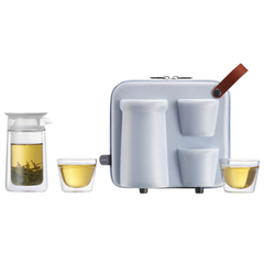 ZENS/哲品家居月影随身便携式旅行玻璃茶具套装D5500118图片