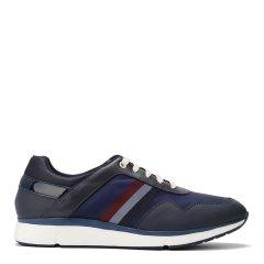 【专柜同款】S.T. DUPONT/都彭   牛皮系带舒适耐磨时尚男士休闲运动鞋L19130919图片