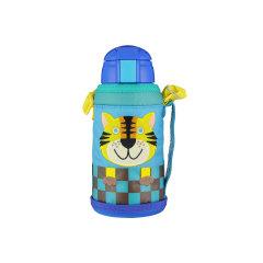 tiger虎牌真空杯MML-C06C儿童真空水杯保冷吸管杯狮子304不锈钢图片
