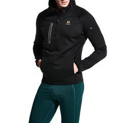 后秀/HOTSUIT运动卫衣男运动套头衫连帽立领防寒保暖跑步上衣 56094005图片