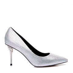 BENATIVE/本那2017新品 大气时尚纯色尖头浅口水晶装饰细跟高跟鞋BN01735146图片