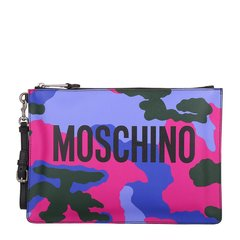 MOSCHINO/莫斯奇诺女士迷彩色PVC手拿包 手包8417图片