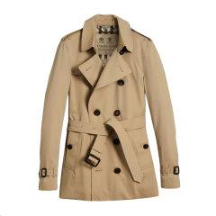 BURBERRY/博柏利 20秋冬 男装 服饰 棉质经典双排扣束腰短款 男士风衣外套图片