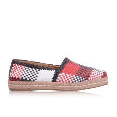 PRADA/普拉达 女士编织皮渔夫乐福鞋1S 370G图片