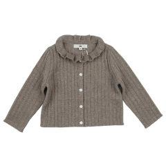 NU collection2017冬季新品女童荷叶领羊绒开衫图片