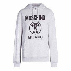MOSCHINO/莫斯奇诺  带双重问号 立体刺绣  棉质运动衫  宽松版  采用前袋设计 抽绳帽图片