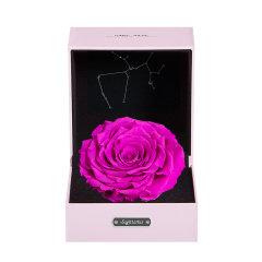 JoyFlower情人节进口永生花礼盒生日礼物十二星座永生玫瑰花图片