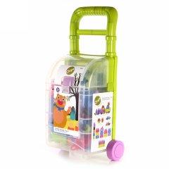 瑞士Oops大颗粒塑料积木 拉杆箱玩具 益智拼插 多功能玩具收纳箱图片