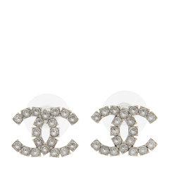 CHANEL/香奈儿 女式新款双C镶水钻耳钉图片