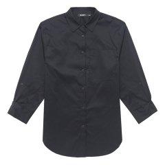 DKNY/唐娜 凯伦2019年新品女士长袖衬衫小翻领都市涂鸦时尚风简约休闲衬衫W842195A图片
