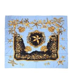 VERSACE/范思哲蓝色中性款丝巾IFO9001-IT01967图片