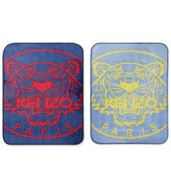 KENZO/高田贤三 经典虎头毯 140*190cm (大)100*140cm(小)灰/蓝色图片
