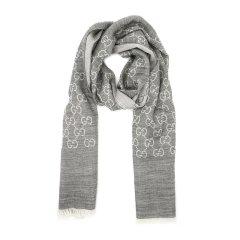GUCCI/古驰 双G提花纯色羊毛真丝混纺围巾165904图片